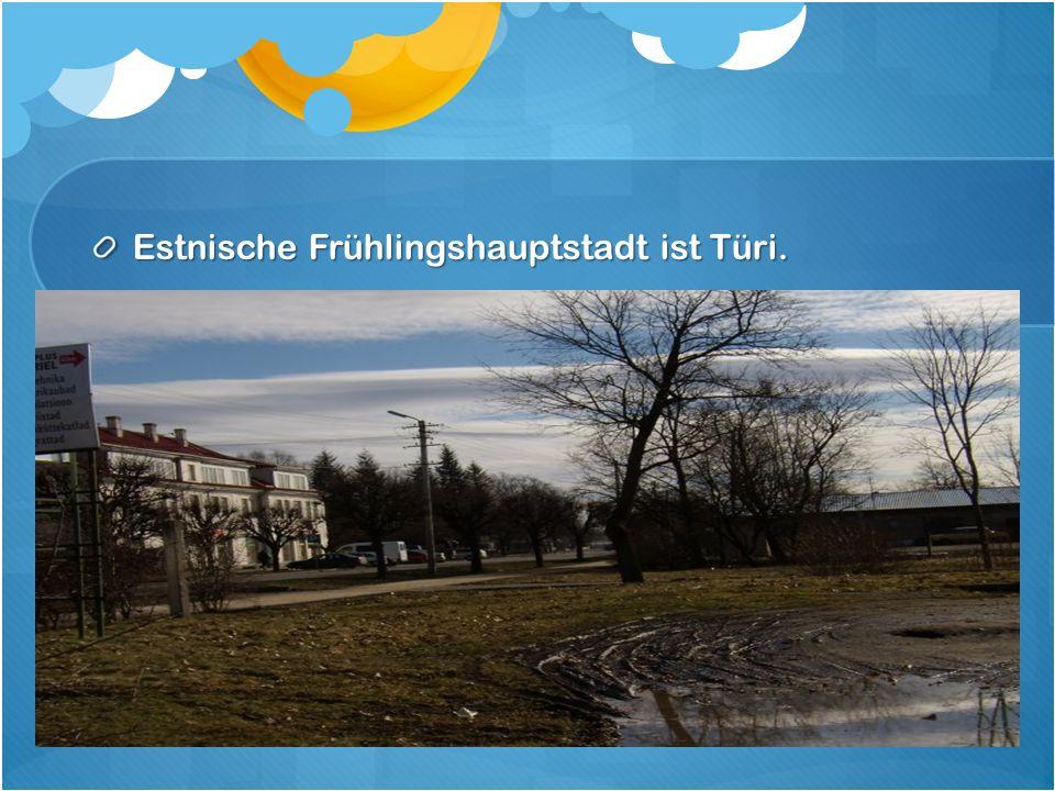 Estnische Frühlingshauptstadt ist Türi.