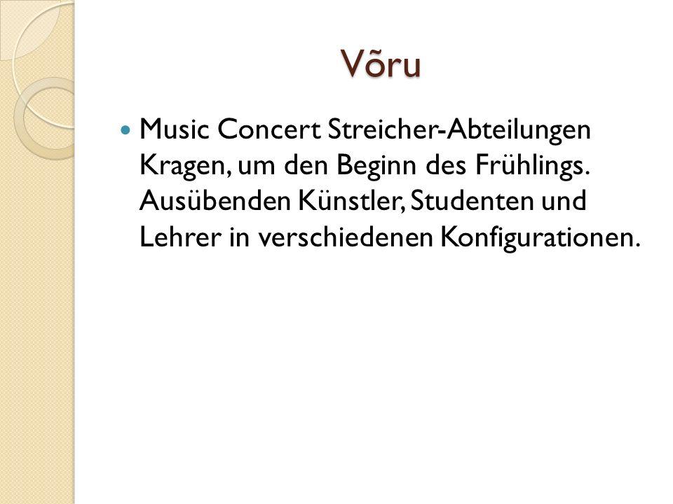 Võru Music Concert Streicher-Abteilungen Kragen, um den Beginn des Frühlings.
