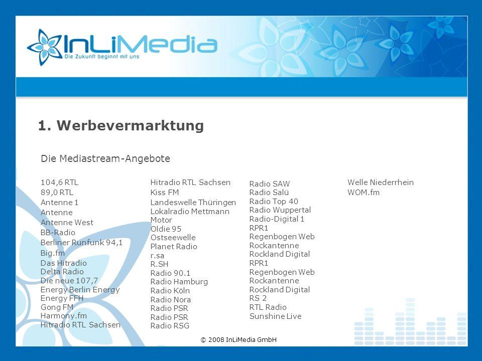 Die Mediastream-Angebote 1. Werbevermarktung 104,6 RTL 89,0 RTL Antenne 1 Antenne Antenne West BB-Radio Berliner Runfunk 94,1 Big.fm Das Hitradio Delt