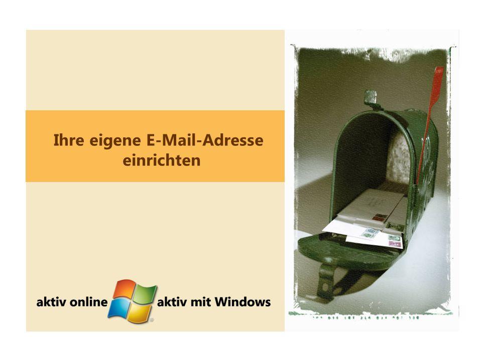 4 Ihre eigene E-Mail-Adresse einrichten