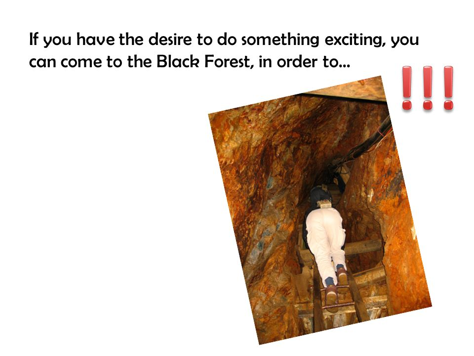 If you have the desire to do something exciting, you can come to the Black Forest, in order to…