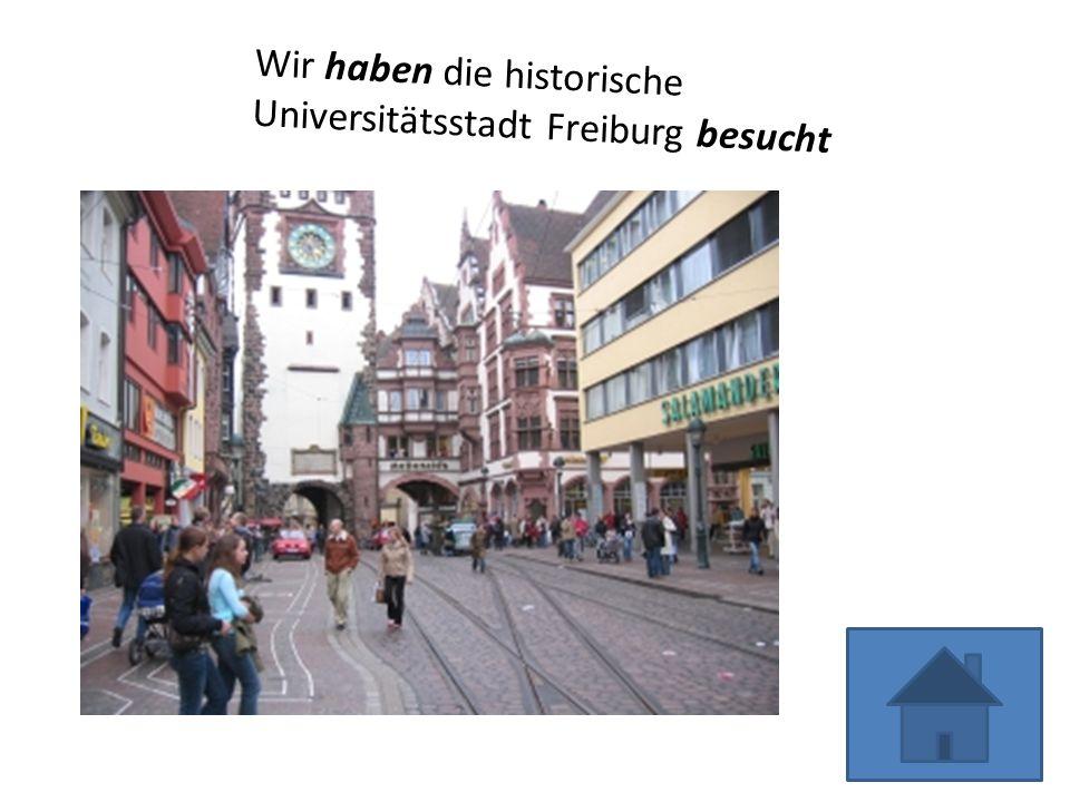 Wir haben die historische Universitätsstadt Freiburg besucht