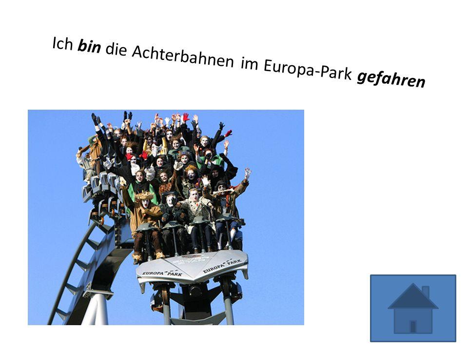Ich bin die Achterbahnen im Europa-Park gefahren