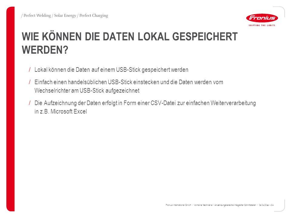 9 HINWEIS: EINSTELLUNGEN AM DISPLAY GEMÄSS BEDIENUNGSANLEITUNG Fronius International GmbH / Vorname Nachname / Anwendungsbereiche integrierter Schnittstellen / 0x.0x.20xx - v04