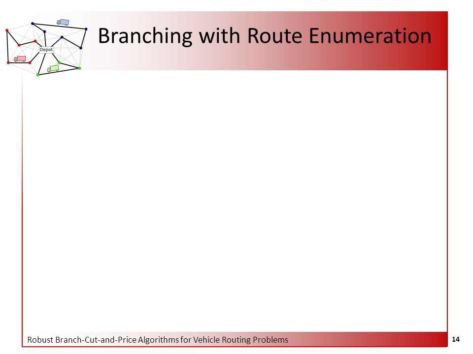 Robust Branch-Cut-and-Price Algorithms for Vehicle Routing Problems 14 Branching with Route Enumeration