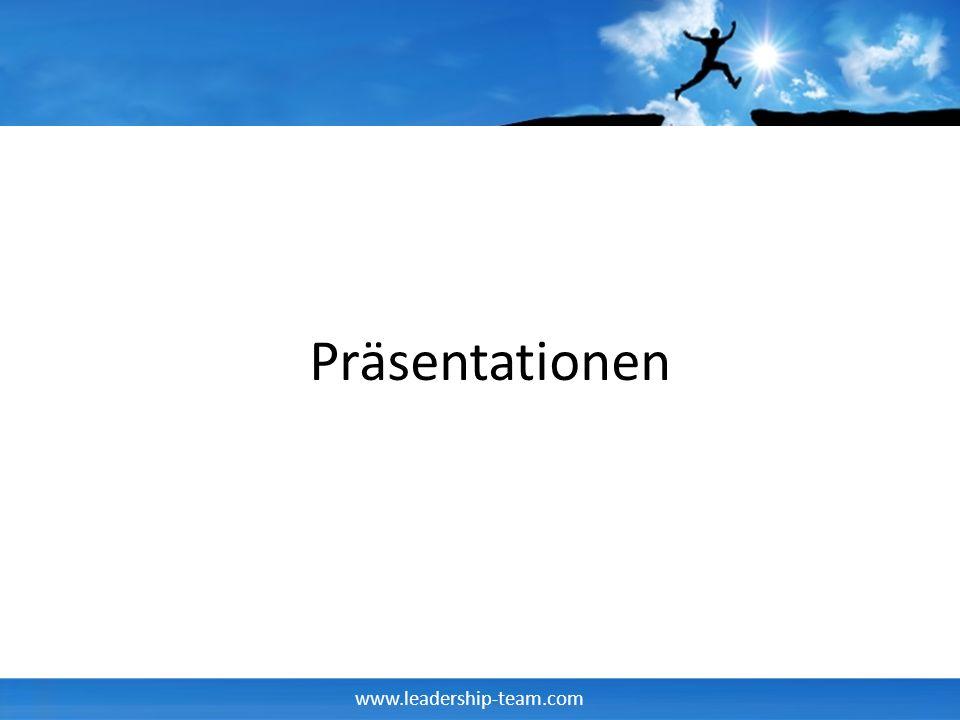 www.leadership-team.com Tools der Präsentation What if .