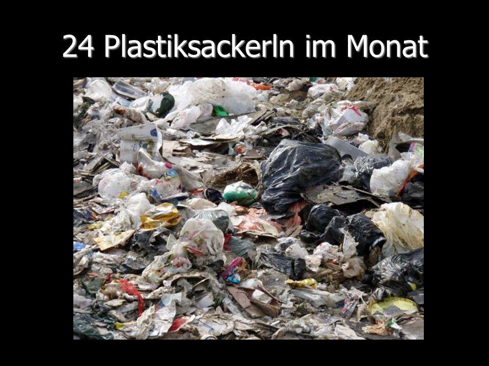 24 Plastiksackerln im Monat