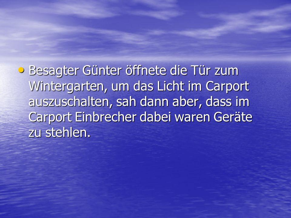 Darauf antwortete Günter: Darauf antwortete Günter: