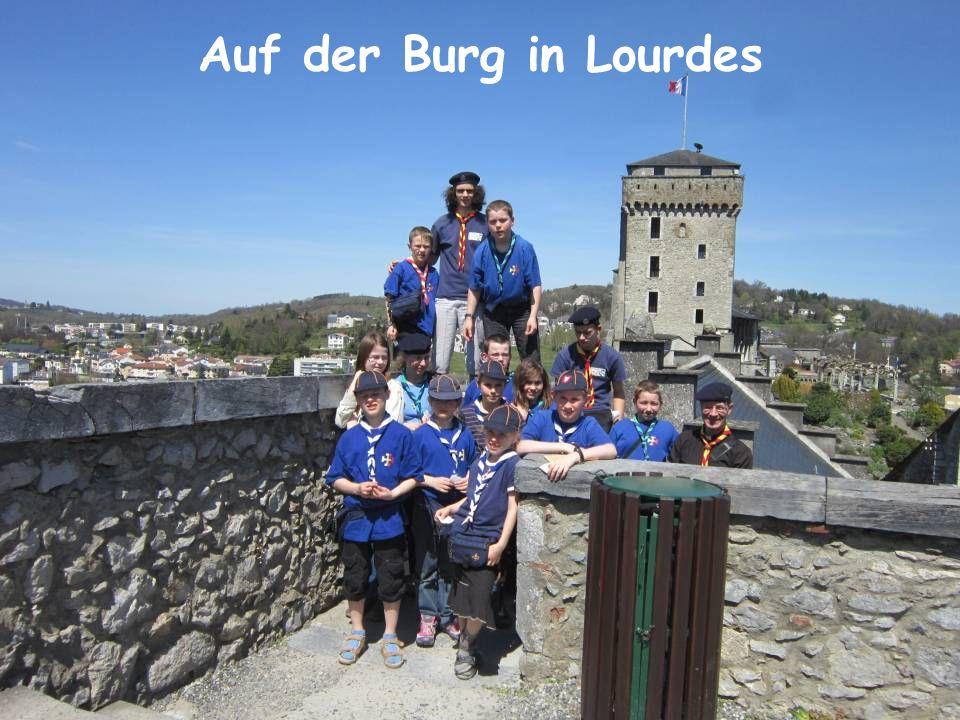 Auf der Burg in Lourdes
