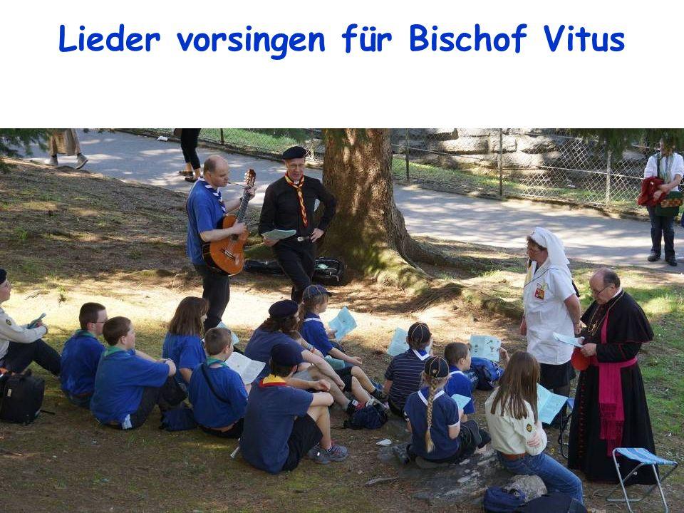 Lieder vorsingen für Bischof Vitus