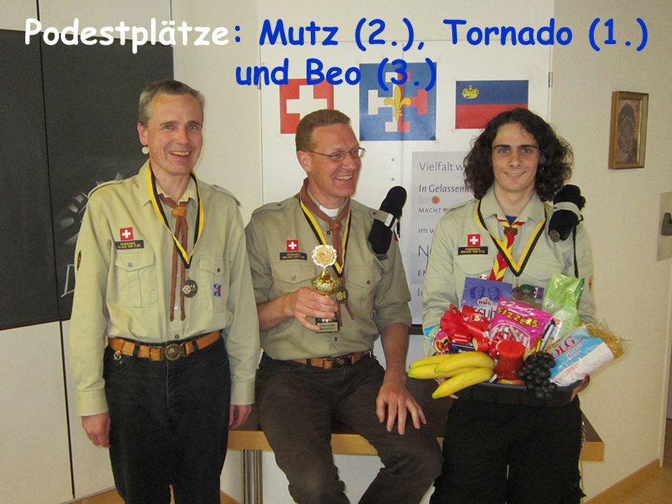 Podestplätze: Mutz (2.), Tornado (1.) und Beo (3.)