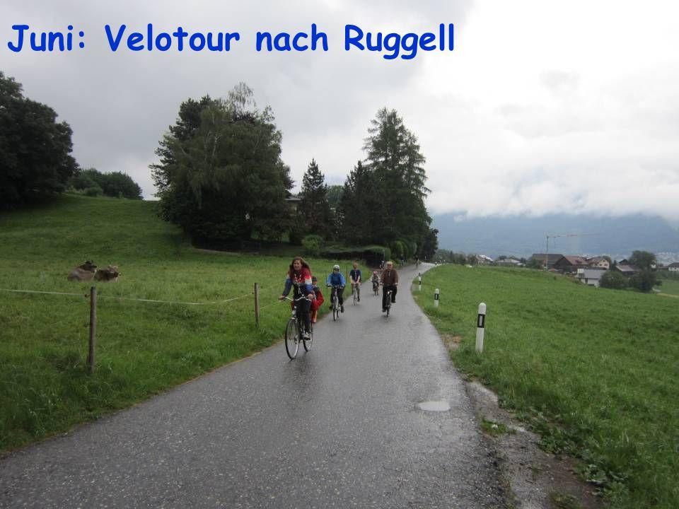 Juni: Velotour nach Ruggell