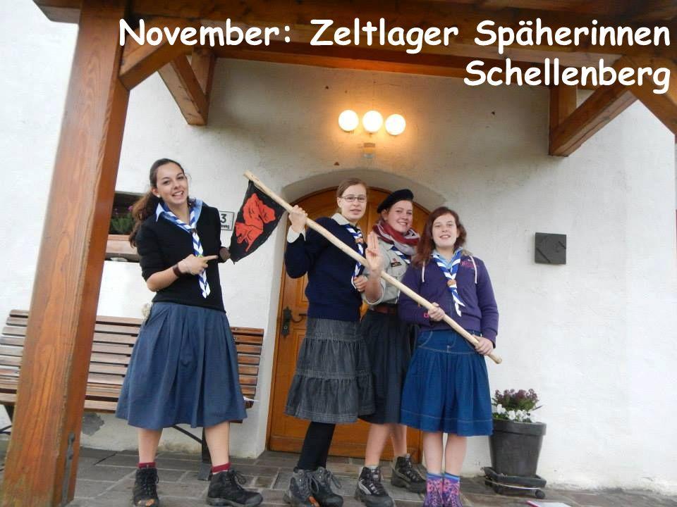 November: Zeltlager Späherinnen Schellenberg