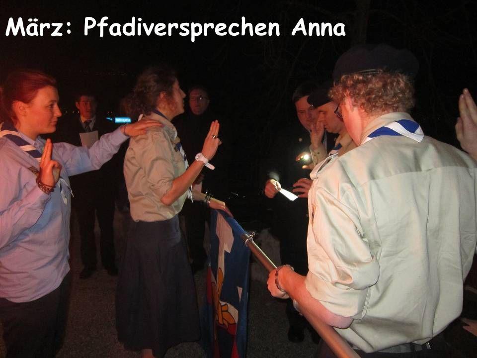 März: Pfadiversprechen Anna