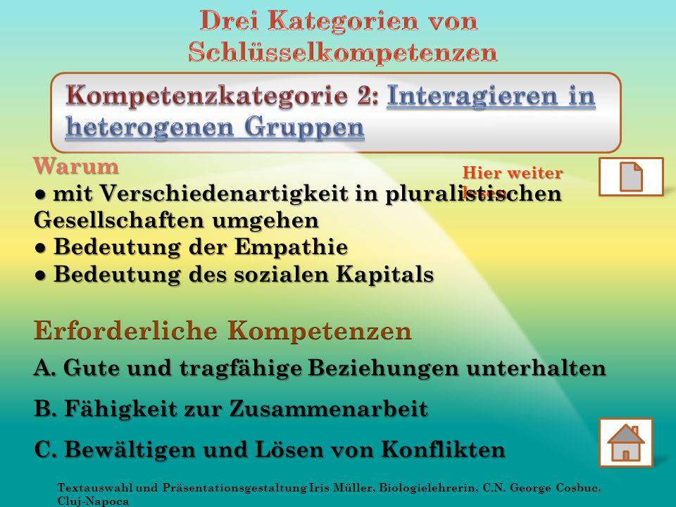 Hier weiter lesen Textauswahl und Präsentationsgestaltung Iris Müller, Biologielehrerin, C.N.