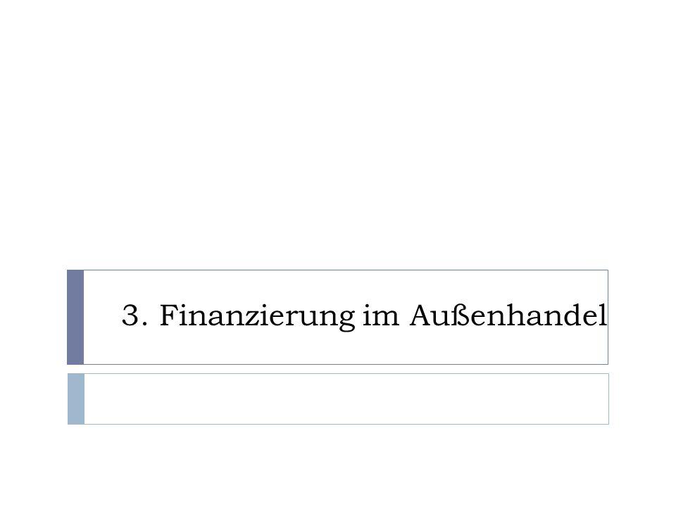 3. Finanzierung im Außenhandel