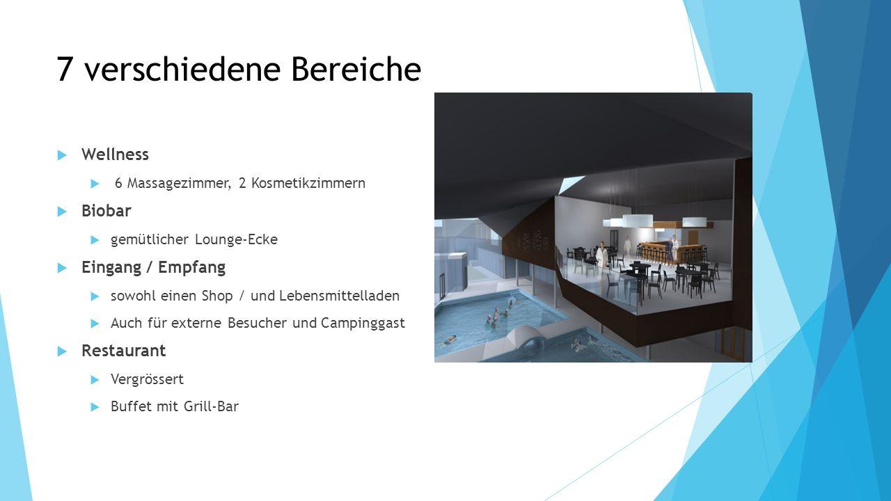 7 verschiedene Bereiche Wellness 6 Massagezimmer, 2 Kosmetikzimmern Biobar gemütlicher Lounge-Ecke Eingang / Empfang sowohl einen Shop / und Lebensmit