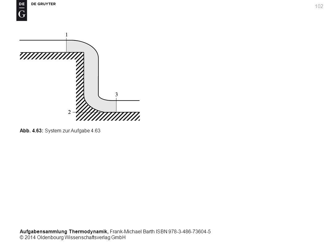Aufgabensammlung Thermodynamik, Frank-Michael Barth ISBN 978-3-486-73604-5 © 2014 Oldenbourg Wissenschaftsverlag GmbH 102 Abb.