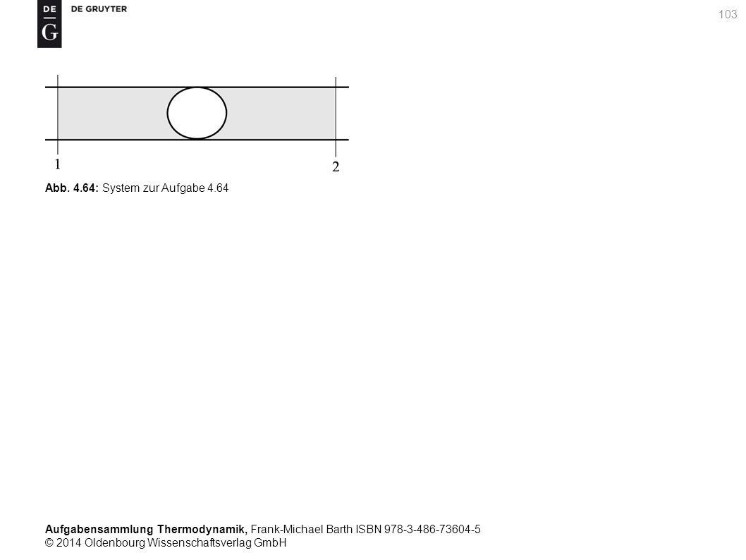 Aufgabensammlung Thermodynamik, Frank-Michael Barth ISBN 978-3-486-73604-5 © 2014 Oldenbourg Wissenschaftsverlag GmbH 103 Abb.