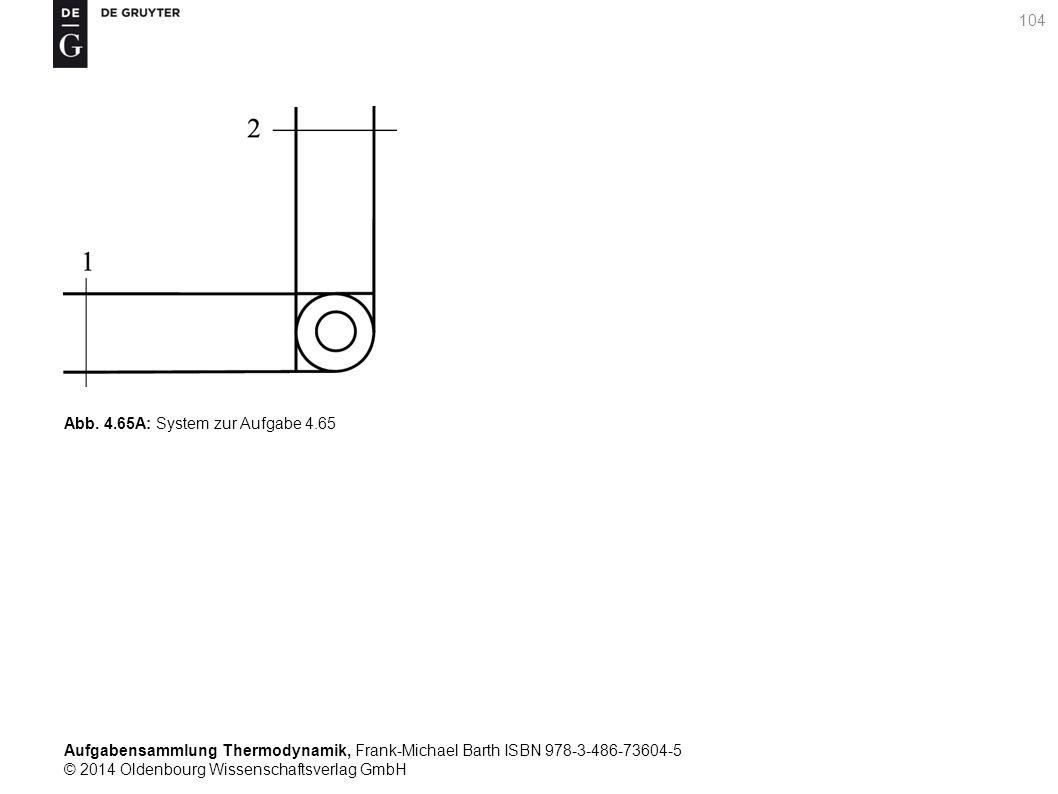 Aufgabensammlung Thermodynamik, Frank-Michael Barth ISBN 978-3-486-73604-5 © 2014 Oldenbourg Wissenschaftsverlag GmbH 104 Abb.