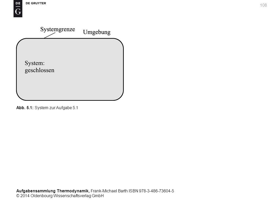 Aufgabensammlung Thermodynamik, Frank-Michael Barth ISBN 978-3-486-73604-5 © 2014 Oldenbourg Wissenschaftsverlag GmbH 108 Abb.