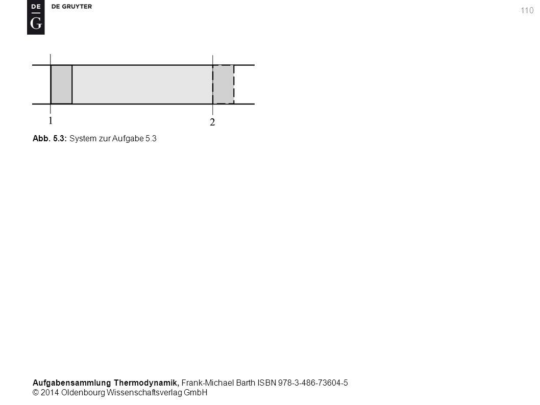 Aufgabensammlung Thermodynamik, Frank-Michael Barth ISBN 978-3-486-73604-5 © 2014 Oldenbourg Wissenschaftsverlag GmbH 110 Abb.