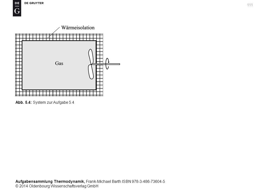 Aufgabensammlung Thermodynamik, Frank-Michael Barth ISBN 978-3-486-73604-5 © 2014 Oldenbourg Wissenschaftsverlag GmbH 111 Abb.