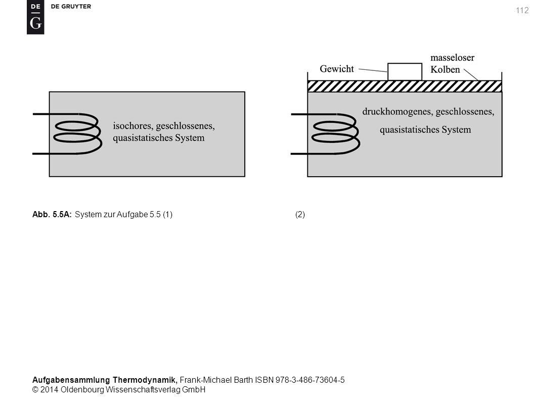 Aufgabensammlung Thermodynamik, Frank-Michael Barth ISBN 978-3-486-73604-5 © 2014 Oldenbourg Wissenschaftsverlag GmbH 112 Abb.