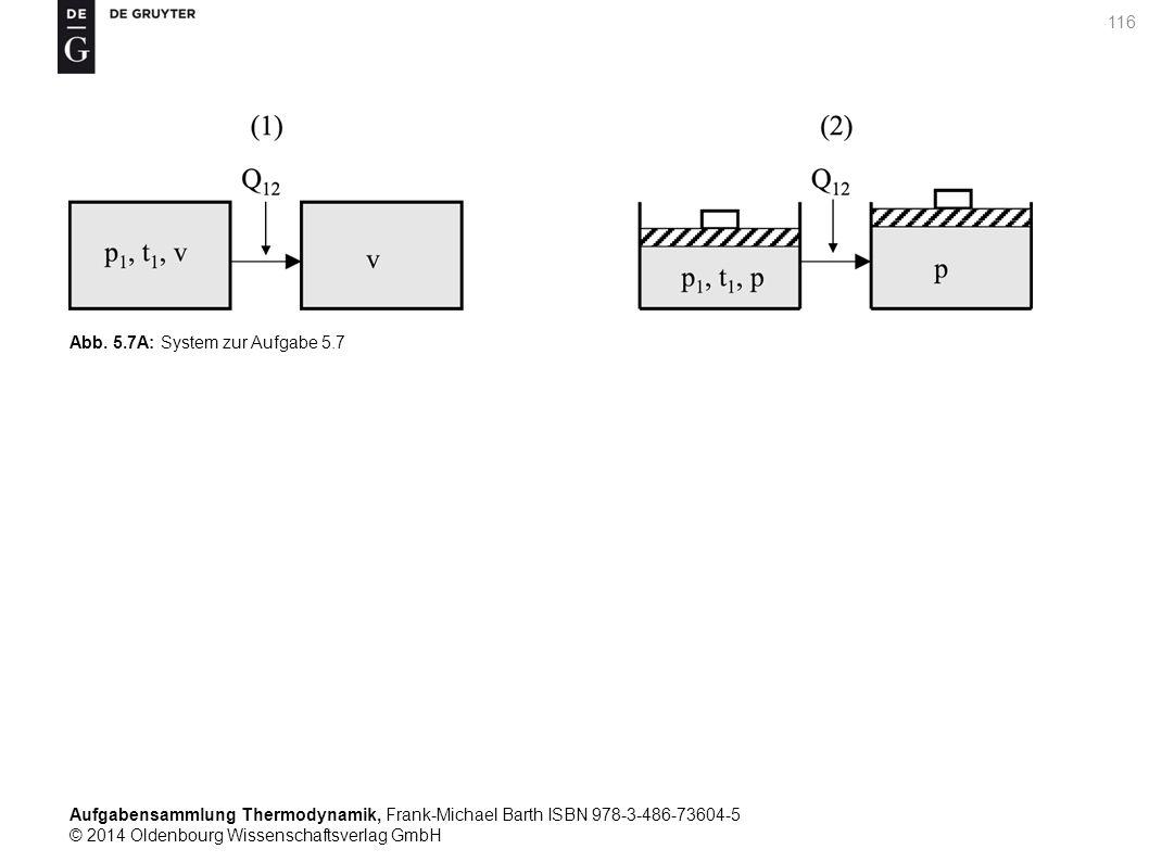 Aufgabensammlung Thermodynamik, Frank-Michael Barth ISBN 978-3-486-73604-5 © 2014 Oldenbourg Wissenschaftsverlag GmbH 116 Abb.