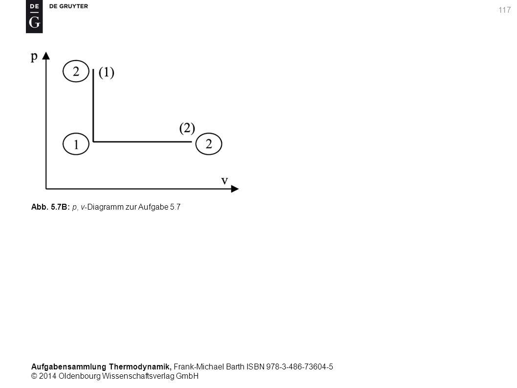 Aufgabensammlung Thermodynamik, Frank-Michael Barth ISBN 978-3-486-73604-5 © 2014 Oldenbourg Wissenschaftsverlag GmbH 117 Abb.