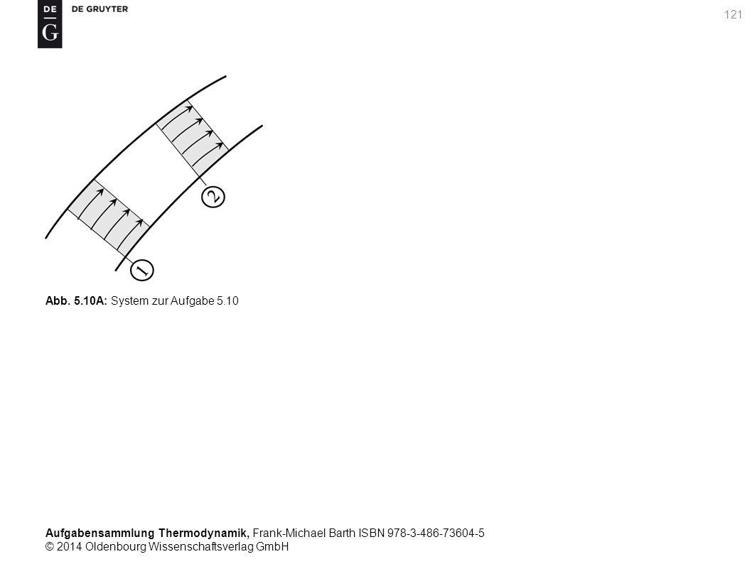 Aufgabensammlung Thermodynamik, Frank-Michael Barth ISBN 978-3-486-73604-5 © 2014 Oldenbourg Wissenschaftsverlag GmbH 121 Abb.