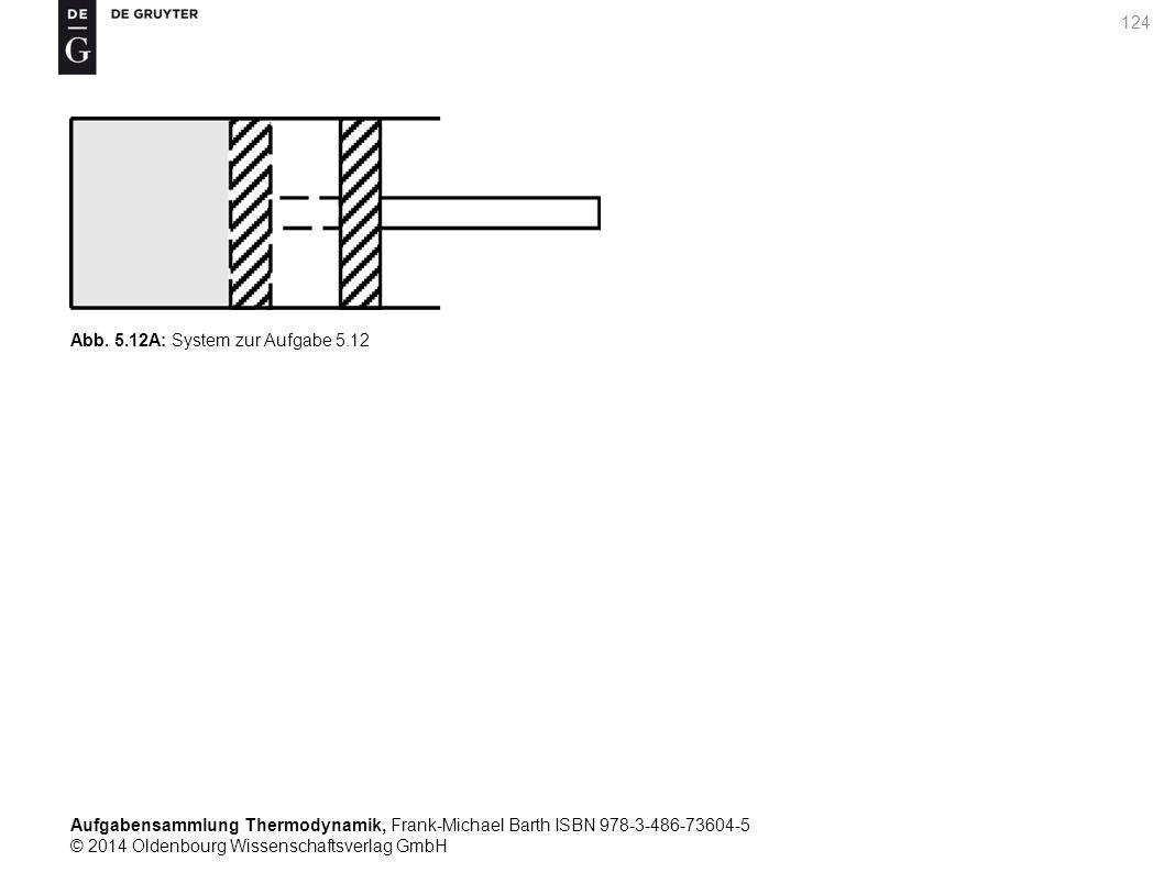 Aufgabensammlung Thermodynamik, Frank-Michael Barth ISBN 978-3-486-73604-5 © 2014 Oldenbourg Wissenschaftsverlag GmbH 124 Abb.