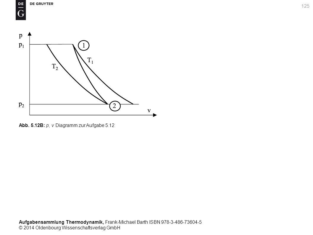 Aufgabensammlung Thermodynamik, Frank-Michael Barth ISBN 978-3-486-73604-5 © 2014 Oldenbourg Wissenschaftsverlag GmbH 125 Abb.
