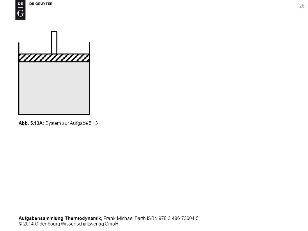Aufgabensammlung Thermodynamik, Frank-Michael Barth ISBN 978-3-486-73604-5 © 2014 Oldenbourg Wissenschaftsverlag GmbH 126 Abb.