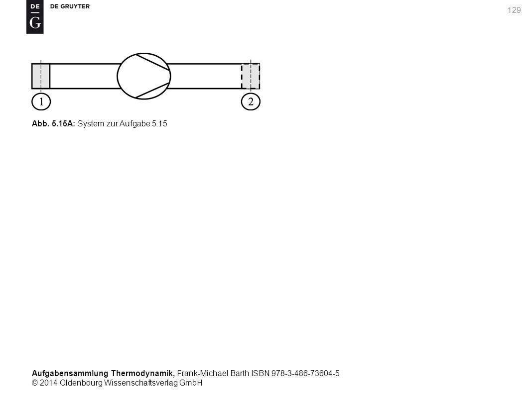 Aufgabensammlung Thermodynamik, Frank-Michael Barth ISBN 978-3-486-73604-5 © 2014 Oldenbourg Wissenschaftsverlag GmbH 129 Abb.
