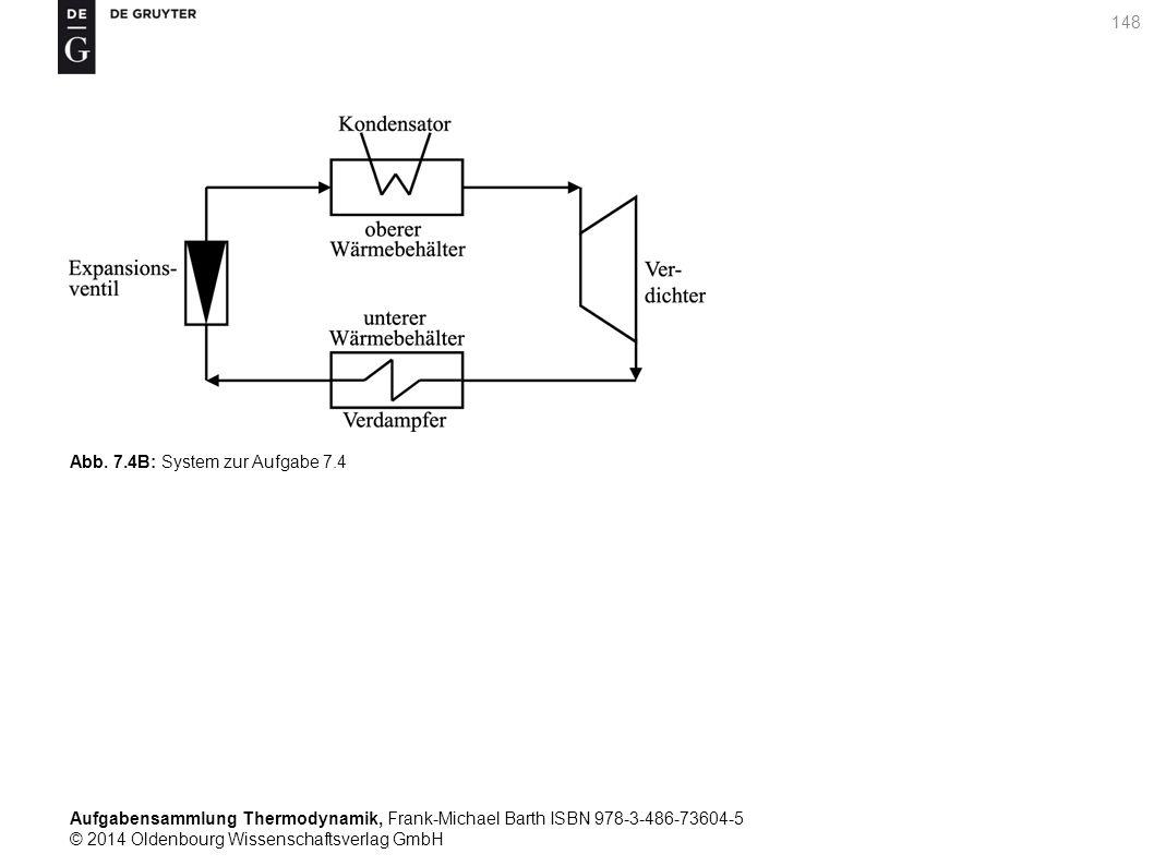Aufgabensammlung Thermodynamik, Frank-Michael Barth ISBN 978-3-486-73604-5 © 2014 Oldenbourg Wissenschaftsverlag GmbH 148 Abb.