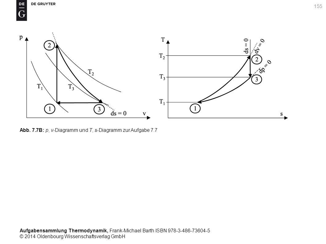 Aufgabensammlung Thermodynamik, Frank-Michael Barth ISBN 978-3-486-73604-5 © 2014 Oldenbourg Wissenschaftsverlag GmbH 155 Abb.