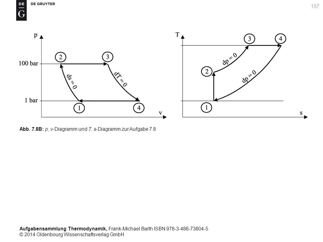 Aufgabensammlung Thermodynamik, Frank-Michael Barth ISBN 978-3-486-73604-5 © 2014 Oldenbourg Wissenschaftsverlag GmbH 157 Abb.