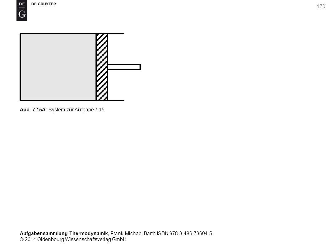 Aufgabensammlung Thermodynamik, Frank-Michael Barth ISBN 978-3-486-73604-5 © 2014 Oldenbourg Wissenschaftsverlag GmbH 170 Abb.