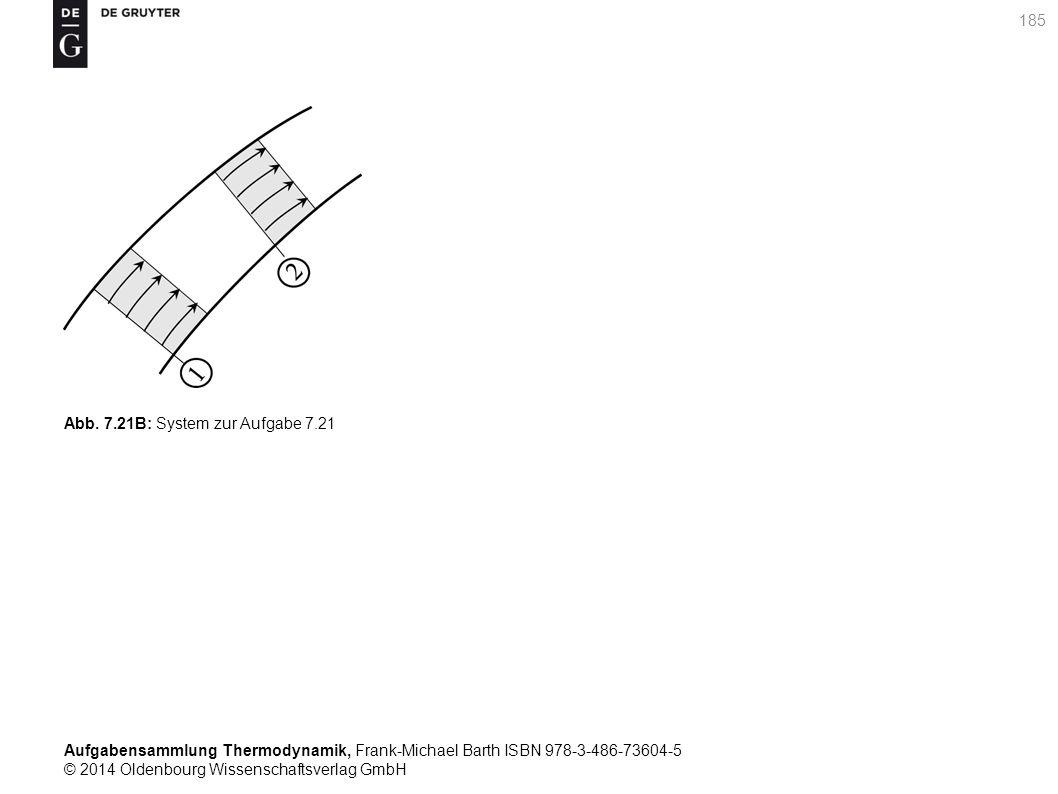 Aufgabensammlung Thermodynamik, Frank-Michael Barth ISBN 978-3-486-73604-5 © 2014 Oldenbourg Wissenschaftsverlag GmbH 185 Abb.