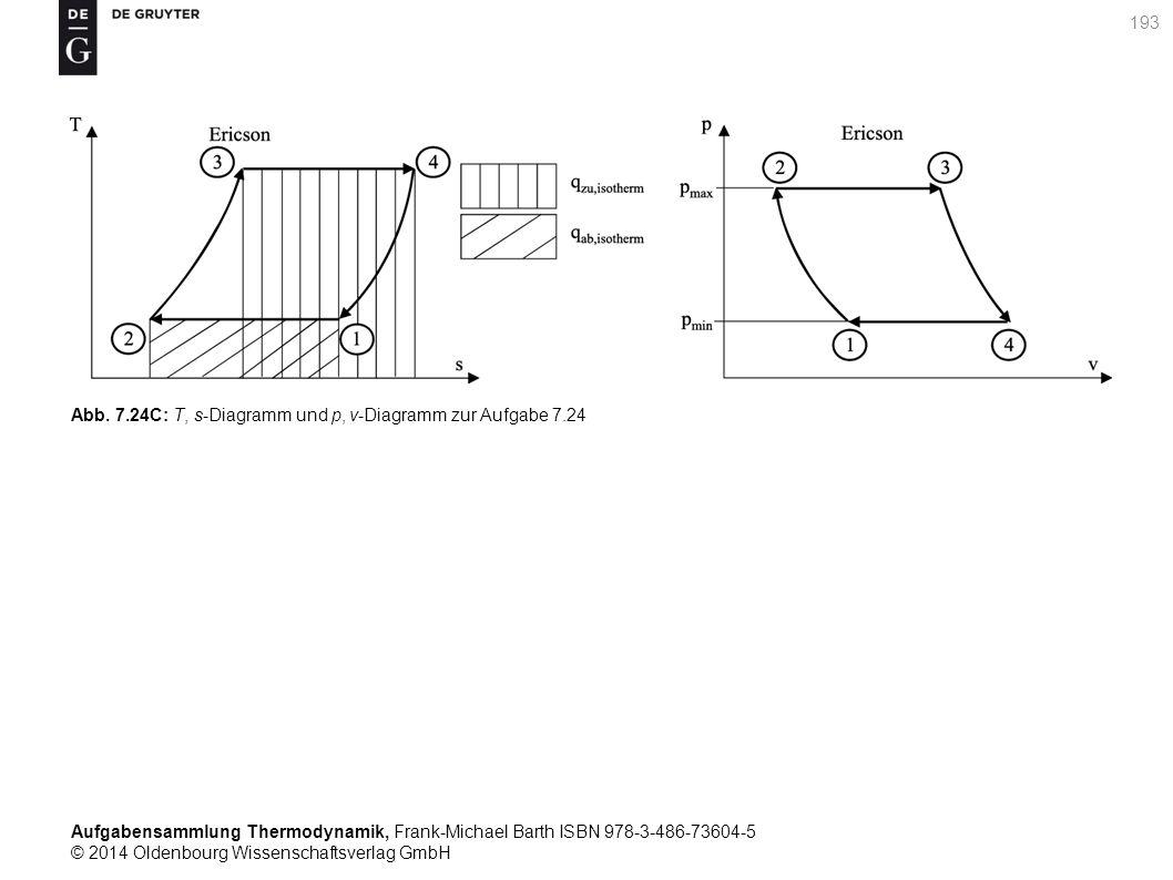 Aufgabensammlung Thermodynamik, Frank-Michael Barth ISBN 978-3-486-73604-5 © 2014 Oldenbourg Wissenschaftsverlag GmbH 193 Abb.