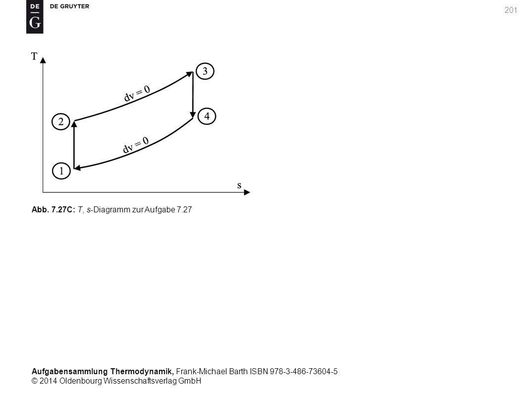 Aufgabensammlung Thermodynamik, Frank-Michael Barth ISBN 978-3-486-73604-5 © 2014 Oldenbourg Wissenschaftsverlag GmbH 201 Abb.