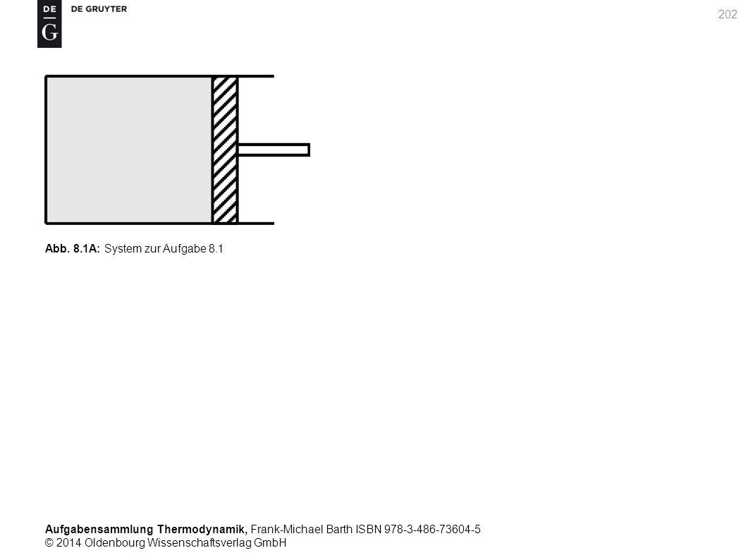 Aufgabensammlung Thermodynamik, Frank-Michael Barth ISBN 978-3-486-73604-5 © 2014 Oldenbourg Wissenschaftsverlag GmbH 202 Abb.