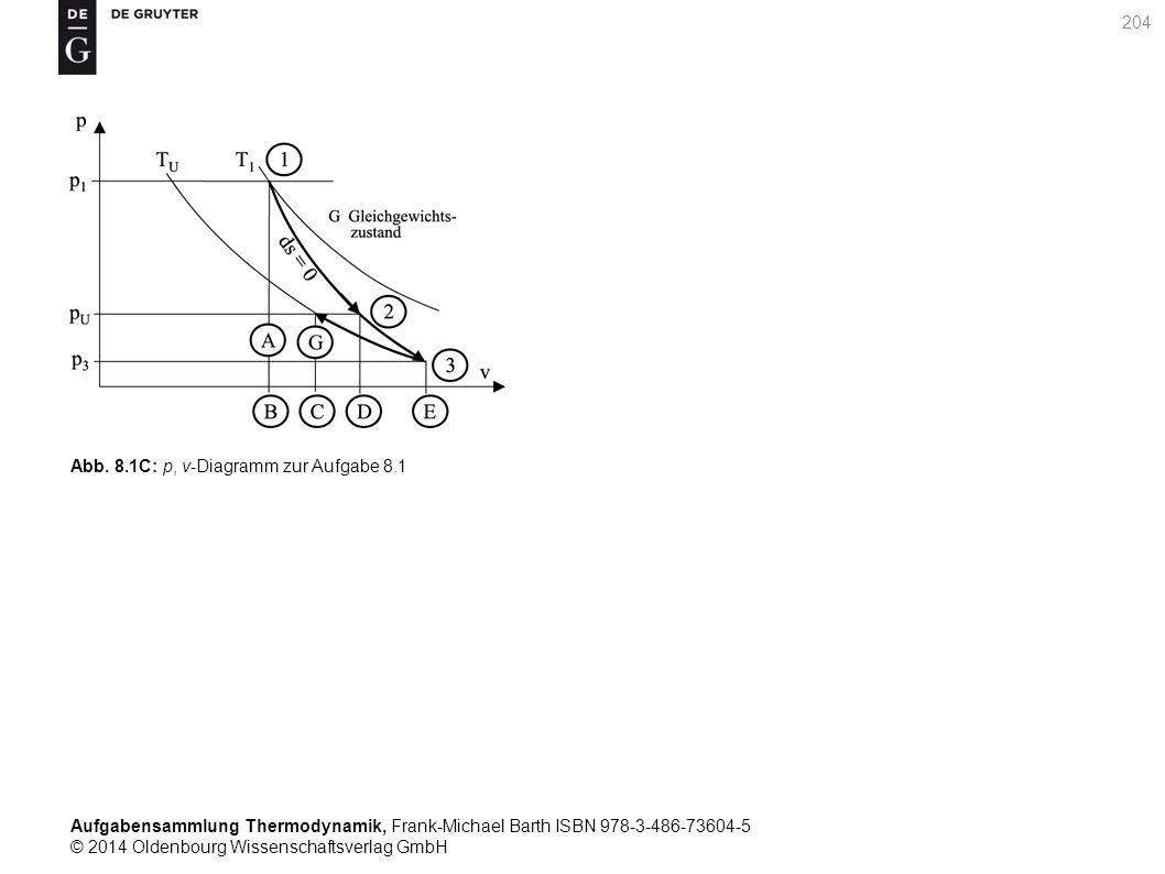 Aufgabensammlung Thermodynamik, Frank-Michael Barth ISBN 978-3-486-73604-5 © 2014 Oldenbourg Wissenschaftsverlag GmbH 204 Abb.