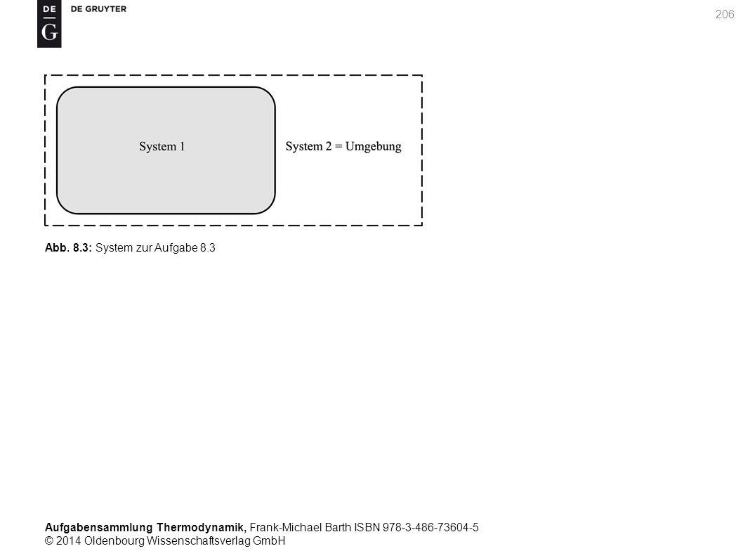 Aufgabensammlung Thermodynamik, Frank-Michael Barth ISBN 978-3-486-73604-5 © 2014 Oldenbourg Wissenschaftsverlag GmbH 206 Abb.