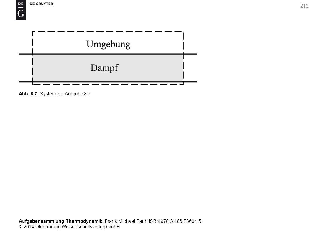 Aufgabensammlung Thermodynamik, Frank-Michael Barth ISBN 978-3-486-73604-5 © 2014 Oldenbourg Wissenschaftsverlag GmbH 213 Abb.