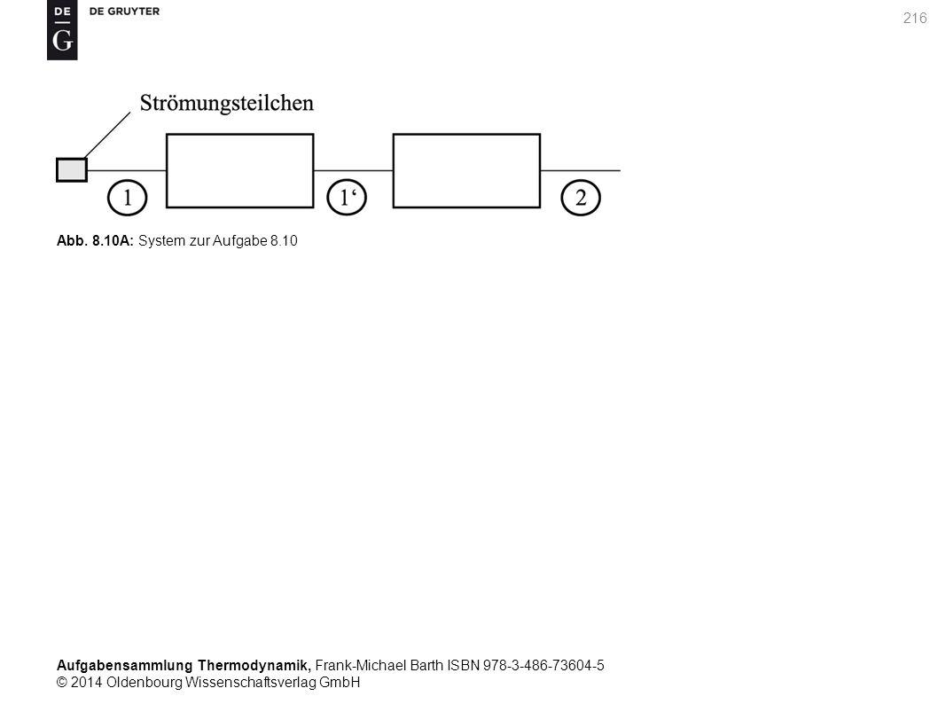 Aufgabensammlung Thermodynamik, Frank-Michael Barth ISBN 978-3-486-73604-5 © 2014 Oldenbourg Wissenschaftsverlag GmbH 216 Abb.