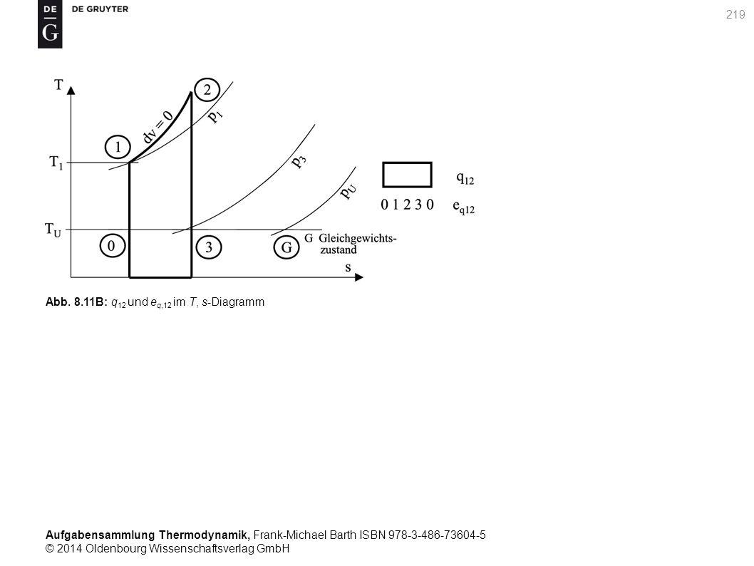 Aufgabensammlung Thermodynamik, Frank-Michael Barth ISBN 978-3-486-73604-5 © 2014 Oldenbourg Wissenschaftsverlag GmbH 219 Abb.