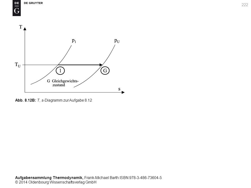 Aufgabensammlung Thermodynamik, Frank-Michael Barth ISBN 978-3-486-73604-5 © 2014 Oldenbourg Wissenschaftsverlag GmbH 222 Abb.