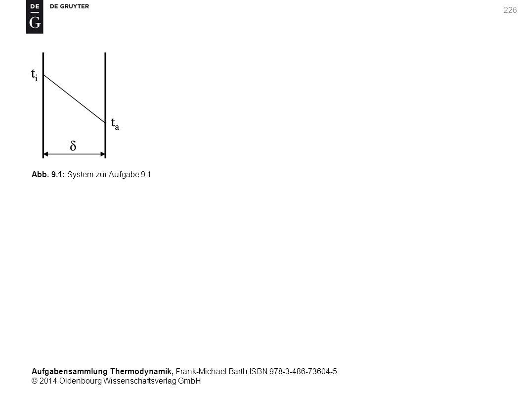 Aufgabensammlung Thermodynamik, Frank-Michael Barth ISBN 978-3-486-73604-5 © 2014 Oldenbourg Wissenschaftsverlag GmbH 226 Abb.